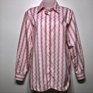 Foxcroft Button Down Career Blouse Size 10